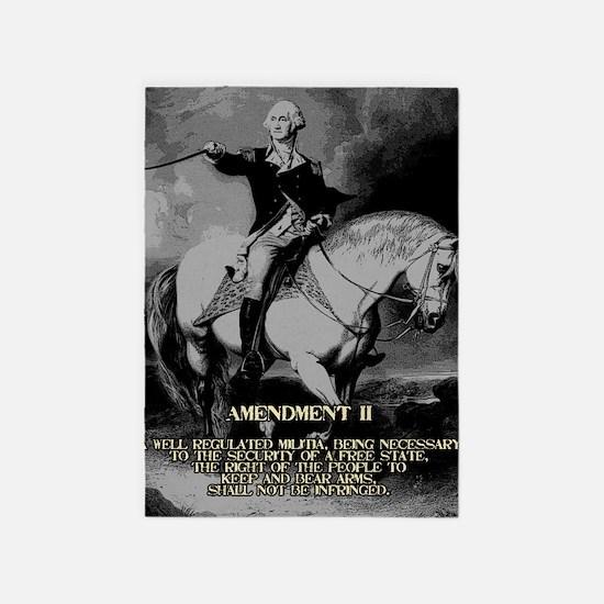 George Washington 2nd Amendment 5'x7'Area Rug