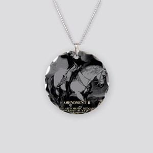 George Washington 2nd Amendm Necklace Circle Charm