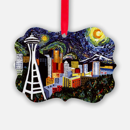Seattle Starry Night Ornament