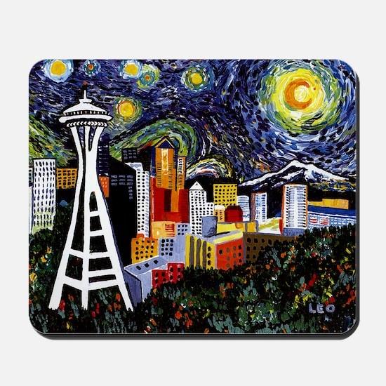 Seattle Starry Night Mousepad