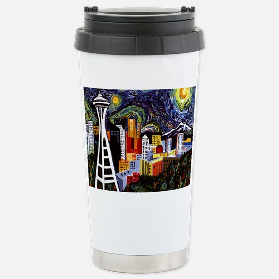 Seattle Starry Night Stainless Steel Travel Mug