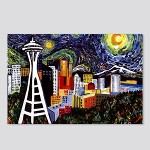 Seattle Starry Night Postcards (Package of 8)