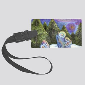 winter starlight Large Luggage Tag