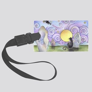 when witches fly Large Luggage Tag