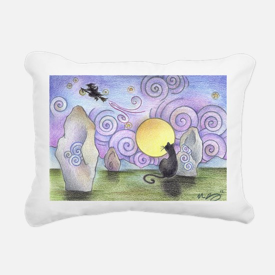 when witches fly Rectangular Canvas Pillow
