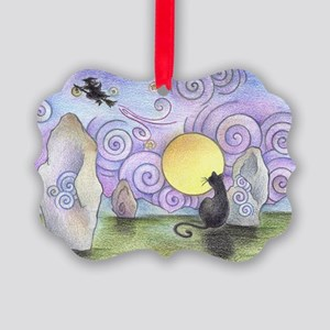 when witches fly Picture Ornament
