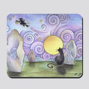 when witches fly Mousepad