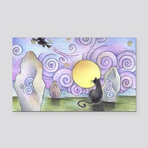when witches fly Rectangle Car Magnet