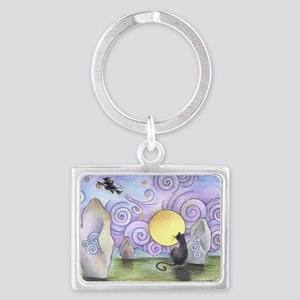 when witches fly Landscape Keychain