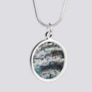Hurricane Irene's Knock Off Silver Round Necklace
