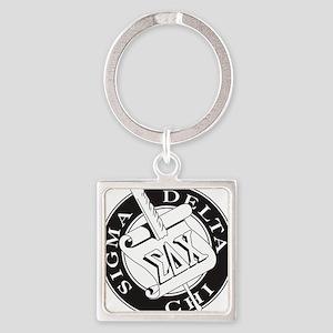 Sigma Delta Chi Square Keychain