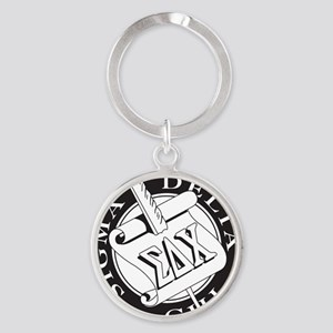 Sigma Delta Chi Round Keychain