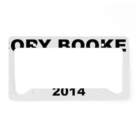 Cory Booker for U.S. Senate 2 License Plate Holder