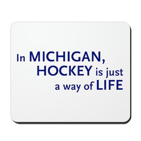 Hockey Michigan Mousepad