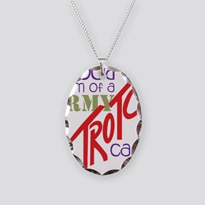 Proud Mom Necklace Oval Charm