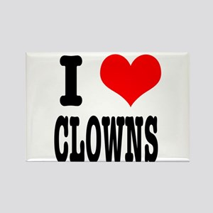 I Heart (Love) Clowns Rectangle Magnet