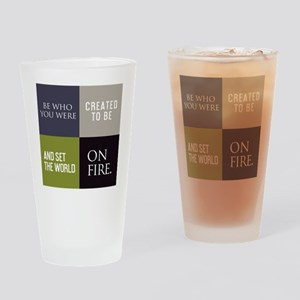 bottle be who you were created Drinking Glass
