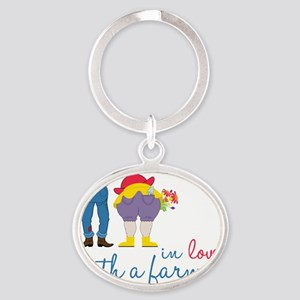 In Love Oval Keychain