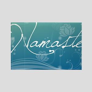 Namaste Pillow Case Rectangle Magnet