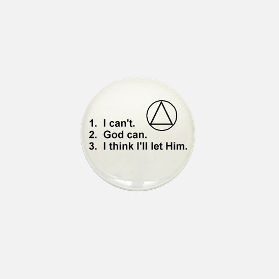 First Three Steps Mini Button