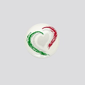 italian heart Mini Button
