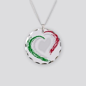 italian heart Necklace Circle Charm