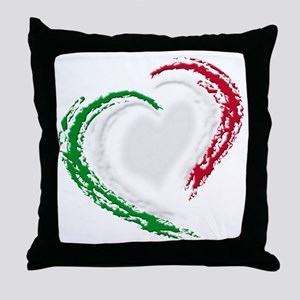 italian heart Throw Pillow