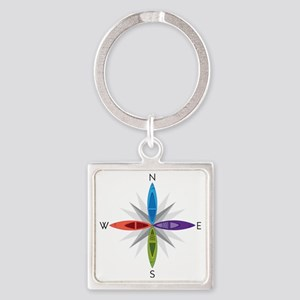 Directions Square Keychain