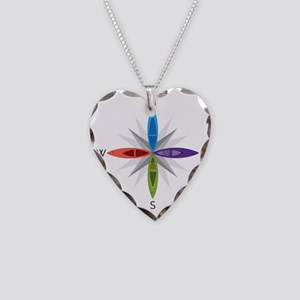 Directions Necklace Heart Charm