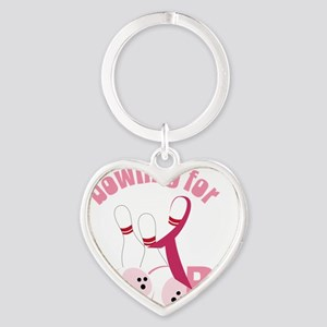 Bowling For Boobs Heart Keychain