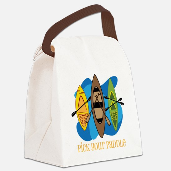 Pick Your Paddle Canvas Lunch Bag