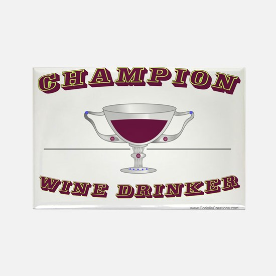 Champion Wine Rectangle Magnet