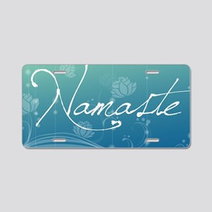 Namaste Small Serving Tray Aluminum License Plate