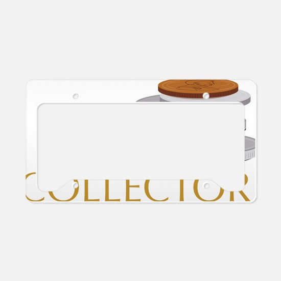 Coin Collector License Plate Holder