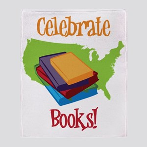 Celebrate Books Throw Blanket