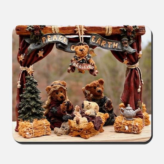 Boyd Bear Christmas Manger Mousepad