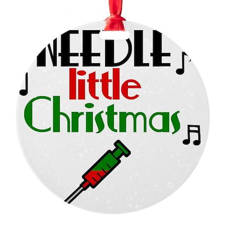 needle Round Ornament