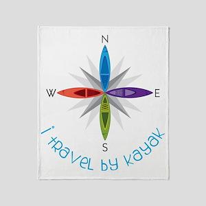 Travel By Kayak Throw Blanket