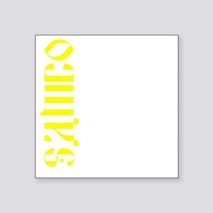 "Sambo Throw T Square Sticker 3"" x 3"""