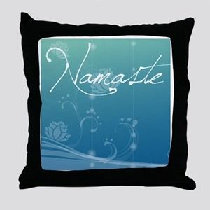 Namaste Shower Curtain Throw Pillow