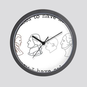 I Have Coins Wall Clock