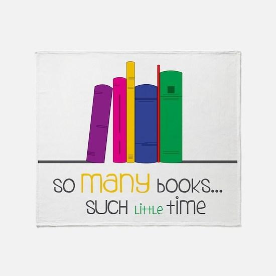 So Many Books Throw Blanket