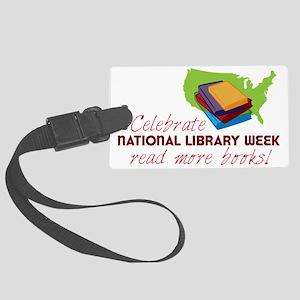 Library Week Large Luggage Tag
