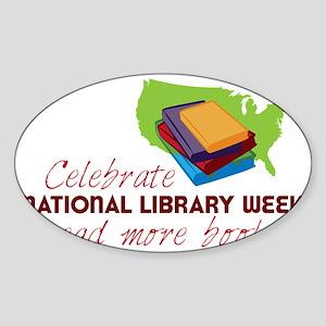 Library Week Sticker (Oval)