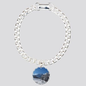 Ski Resort Scene Charm Bracelet, One Charm