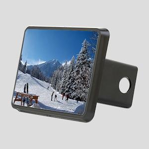 Ski Resort Scene Rectangular Hitch Cover