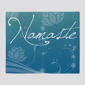 Namaste Pillow Throw Blanket