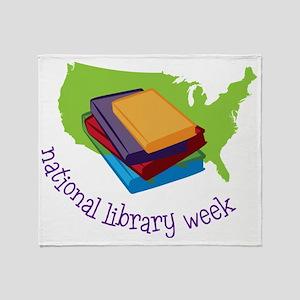 National Library Week Throw Blanket