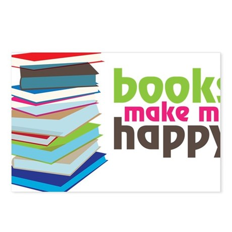 Books Make Me Happy Postcards (Package of 8)