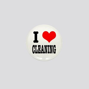 I Heart (Love) Cleaning Mini Button